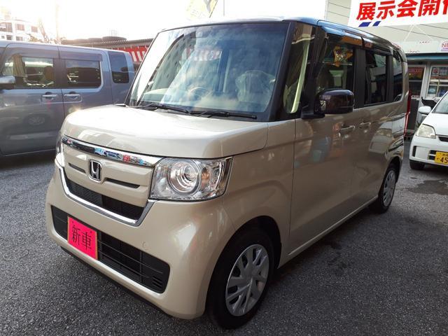 沖縄の中古車 ホンダ N-BOX 車両価格 162万円 リ済込 新車  ライトブラウンII