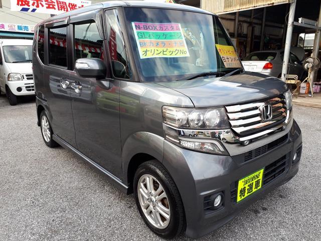 沖縄の中古車 ホンダ N-BOXカスタム 車両価格 89万円 リ済込 2012(平成24)年 8.6万km ガンM