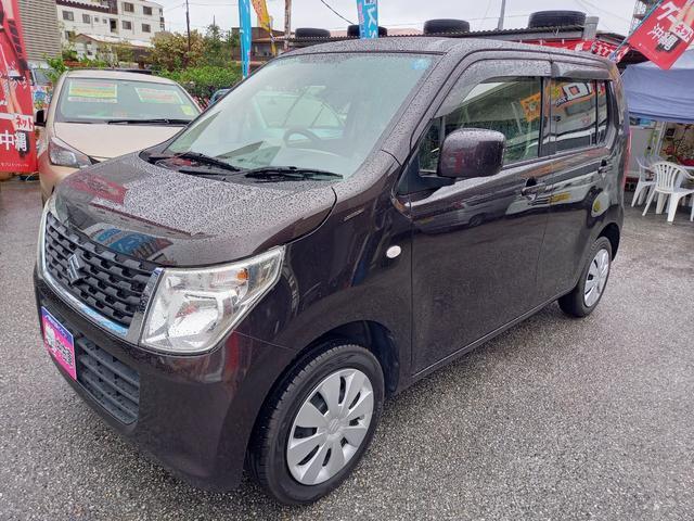 沖縄の中古車 スズキ ワゴンR 車両価格 64万円 リ済込 2015(平成27)年 5.8万km ブラウンM
