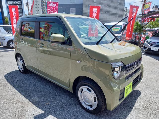 沖縄の中古車 ホンダ N-WGN 車両価格 136万円 リ済込 2021(令和3)年 6km LグリーンM