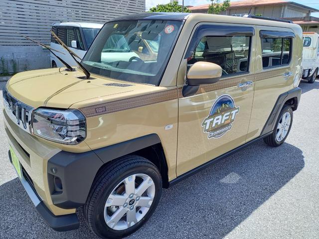 沖縄の中古車 ダイハツ タフト 車両価格 155万円 リ済込 2021(令和3)年 5km ライトゴールドM
