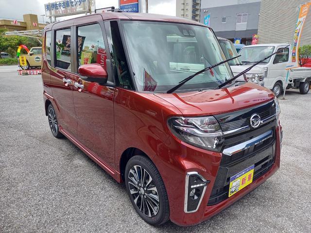 沖縄の中古車 ダイハツ タント 車両価格 185万円 リ済込 2021(令和3)年 5km ダークレッドM