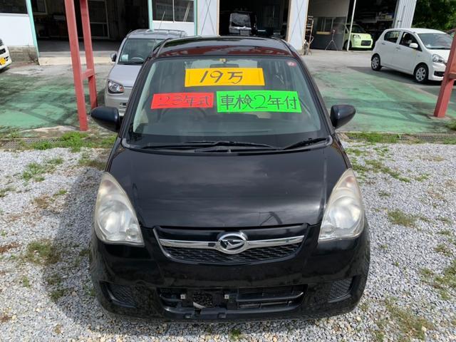 沖縄の中古車 ダイハツ ミラ 車両価格 11万円 リ済込 2011(平成23)年 8.0万km ブラック