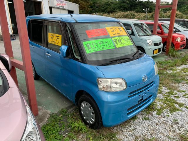 沖縄の中古車 ダイハツ タント 車両価格 21万円 リ済込 2009(平成21)年 10.2万km ブルー