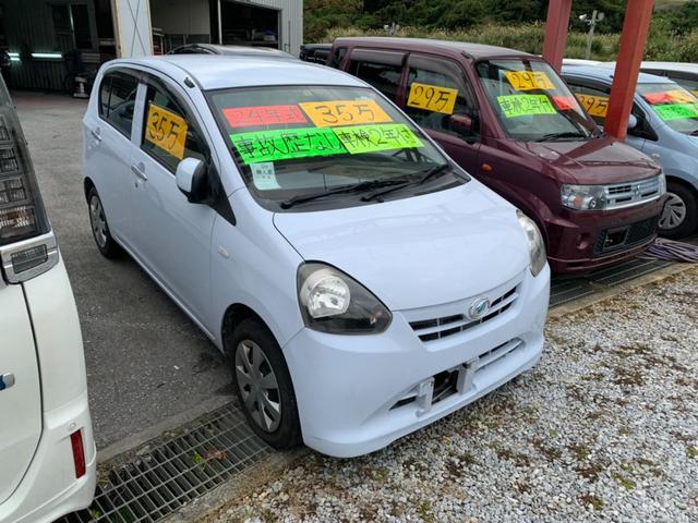 沖縄の中古車 ダイハツ ミライース 車両価格 27万円 リ済込 2012(平成24)年 8.5万km スカイブルー