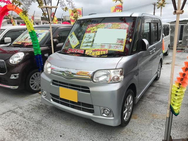 沖縄の中古車 ダイハツ タント 車両価格 64万円 リ済込 平成25年 7.4万km シルバー