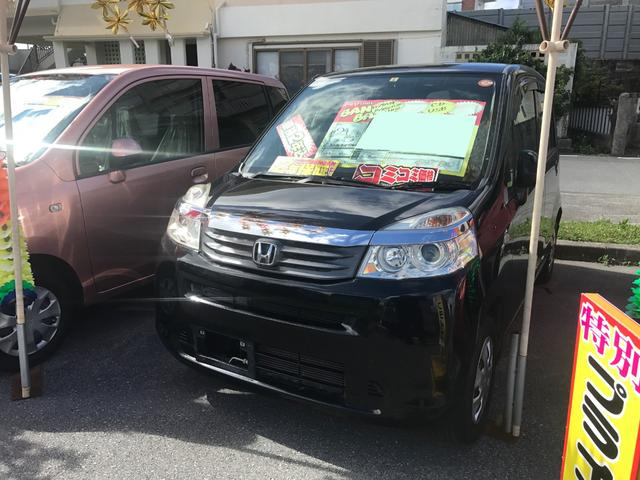 沖縄の中古車 ホンダ ライフ 車両価格 41万円 リ済込 2012(平成24)後 7.3万km ナイトホークブラックパール