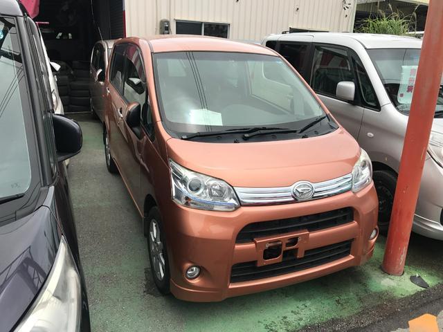 沖縄の中古車 ダイハツ ムーヴ 車両価格 47万円 リ済込 2012(平成24)年 8.2万km オレンジ