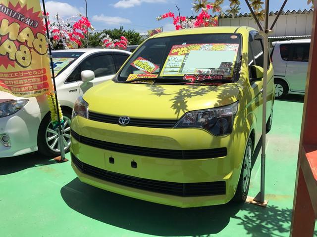 沖縄の中古車 トヨタ スペイド 車両価格 63万円 リ済込 2014(平成26)年 3.2万km イエロー