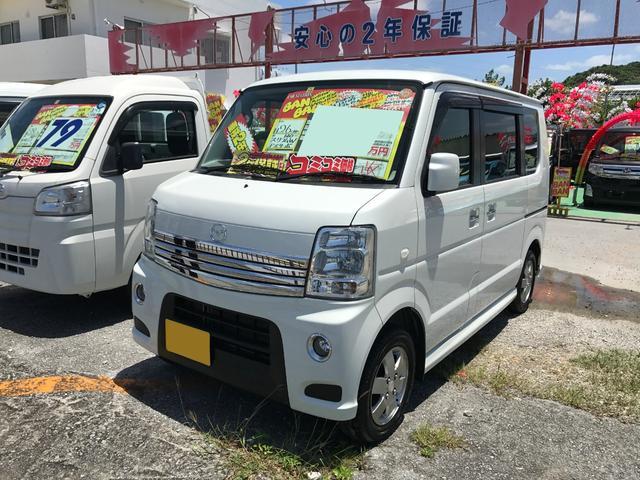 沖縄の中古車 マツダ スクラムワゴン 車両価格 87万円 リ済込 2014(平成26)後 8.6万km パールホワイト