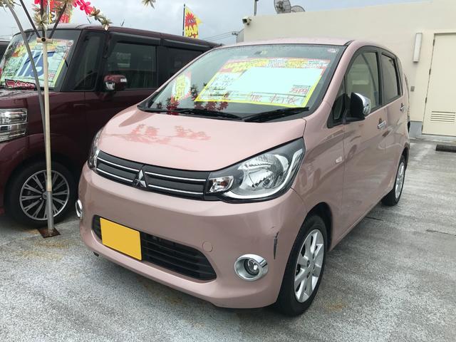 沖縄の中古車 三菱 eKワゴン 車両価格 57万円 リ済込 2013(平成25)年 4.6万km ピンク