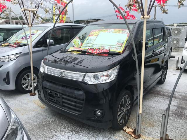 沖縄県の中古車ならワゴンRスティングレー Tターボ フルセグHDDナビ