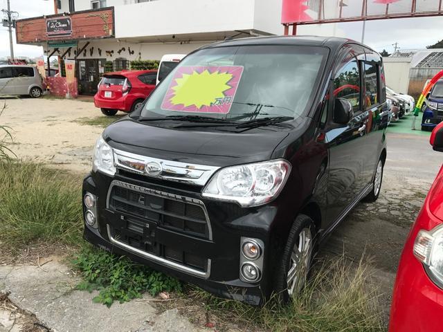 沖縄の中古車 ダイハツ タントエグゼ 車両価格 51万円 リ済込 2012(平成24)後 7.7万km ブラック