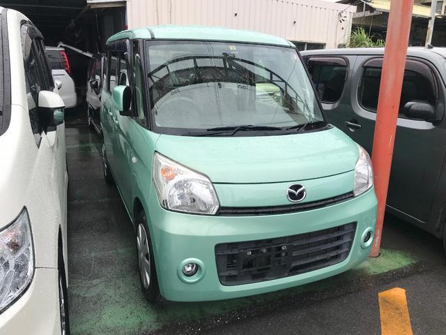 沖縄の中古車 マツダ フレアワゴン 車両価格 57万円 リ済込 2013(平成25)年 7.1万km Lグリーン
