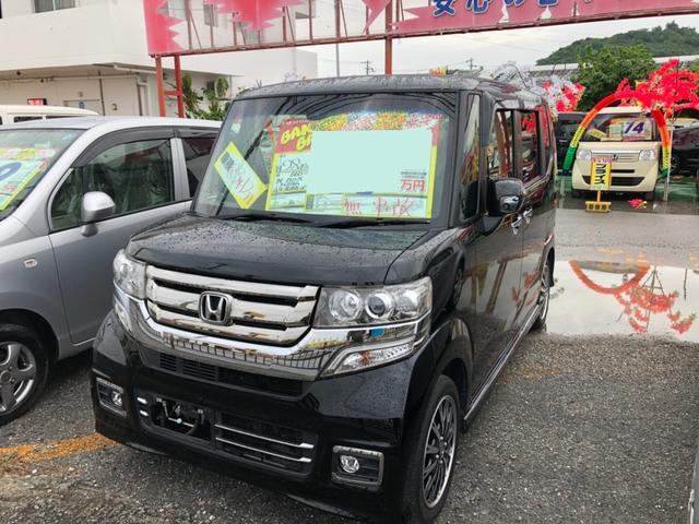 沖縄県豊見城市の中古車ならN-BOXカスタム Gターボパッケージ フルセグナビ