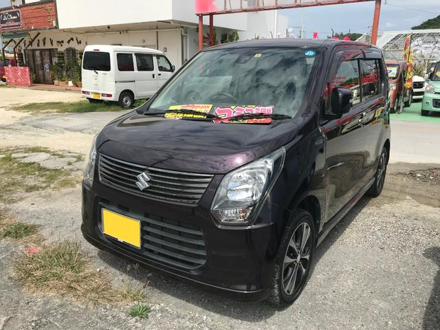 沖縄の中古車 スズキ ワゴンR 車両価格 61万円 リ済込 2013(平成25)年 7.7万km パープル