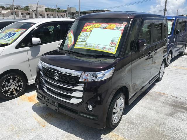 沖縄県の中古車ならスペーシアカスタムZ フルセグナビ ブルートゥース