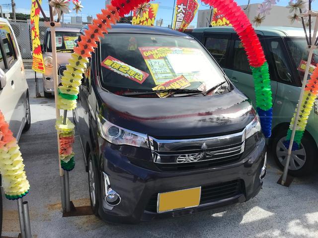 沖縄の中古車 三菱 eKカスタム 車両価格 67万円 リ済込 2015(平成27)年 2.9万km パープル