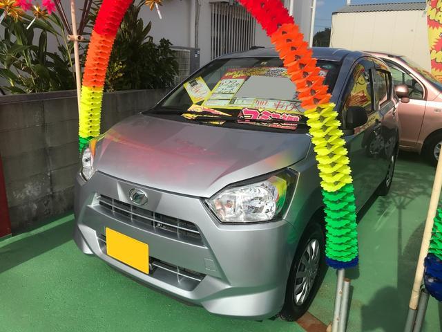 沖縄の中古車 ダイハツ ミライース 車両価格 60万円 リ済込 2017(平成29)年 4.4万km シルバー