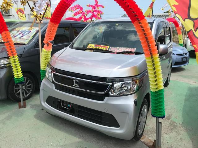 沖縄の中古車 ホンダ N-WGN 車両価格 57万円 リ済込 2015(平成27)年 7.5万km シルバー
