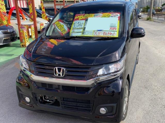 沖縄の中古車 ホンダ N-WGNカスタム 車両価格 67万円 リ済込 2014(平成26)年 7.0万km プレミアムゴールドパープルパール