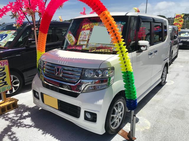 沖縄県の中古車ならN-BOXカスタム G・Lパッケージ フルセグHDDナビ ブルートゥース バックモニター HID