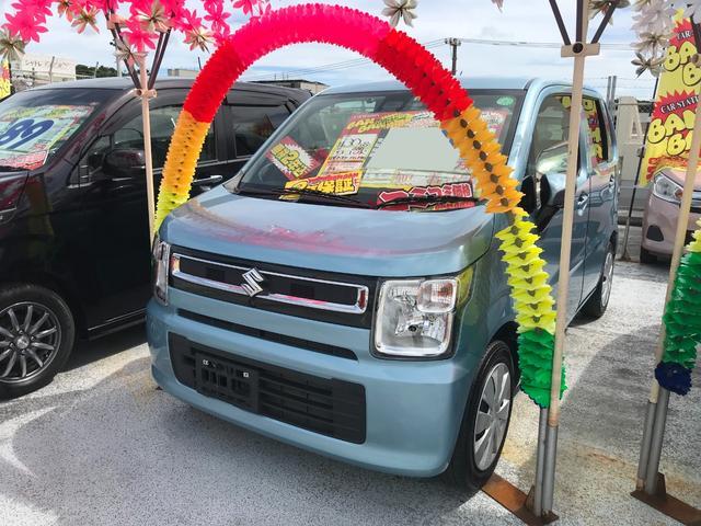 沖縄県豊見城市の中古車ならワゴンR ハイブリッドFX セーフティーパッケージ ドラレコ フルセグナビ ブルートゥース 全方位モニター