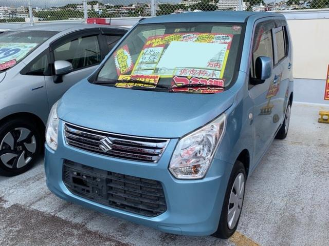 沖縄の中古車 スズキ ワゴンR 車両価格 41万円 リ済込 2013(平成25)年 5.6万km ライトブルー