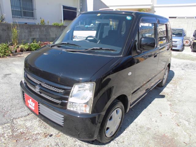 沖縄の中古車 スズキ ワゴンR 車両価格 16万円 リ済込 平成19年 11.7万km ブラック