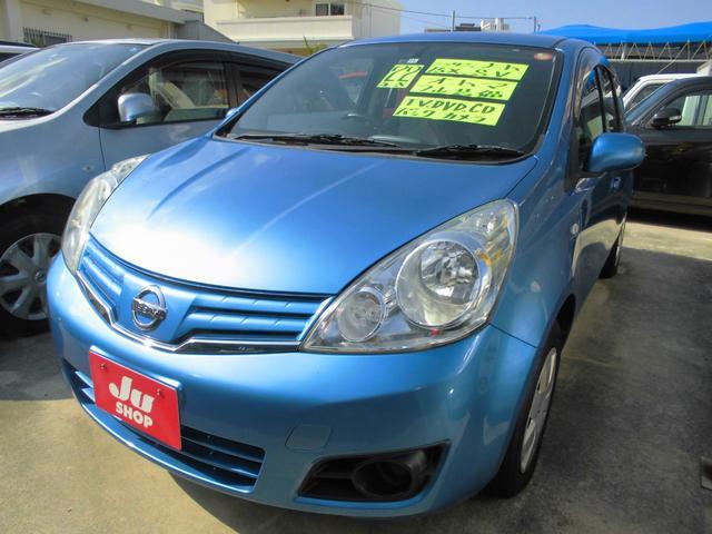 沖縄の中古車 日産 ノート 車両価格 29万円 リ済込 2010(平成22)年 8.6万km スカッシュブルーPM