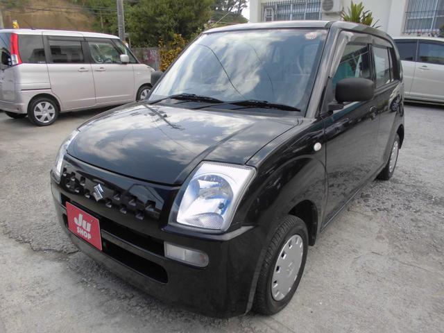 沖縄の中古車 スズキ アルト 車両価格 14万円 リ済込 2008(平成20)年 9.4万km ブラック