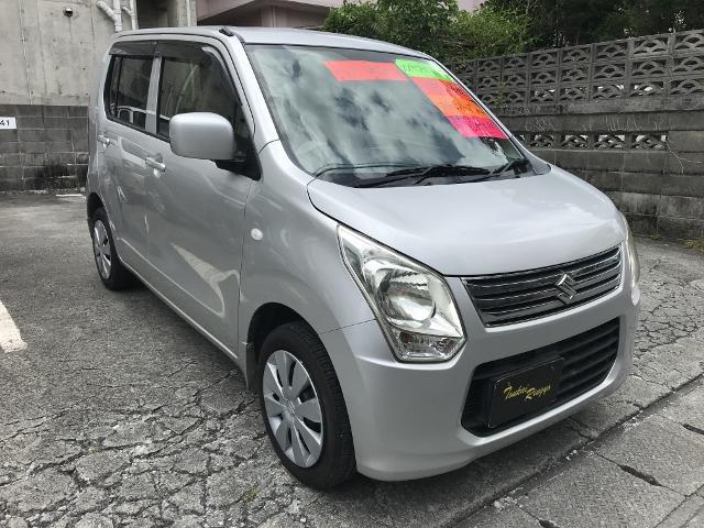 沖縄の中古車 スズキ ワゴンR 車両価格 29万円 リ済込 2013(平成25)年 12.4万km シルバー