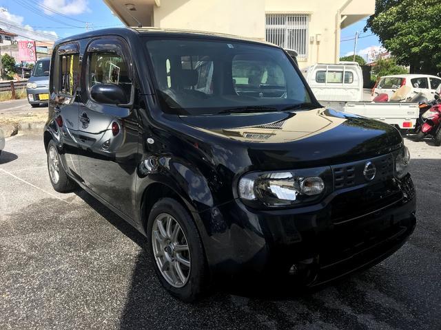 沖縄の中古車 日産 キューブ 車両価格 39万円 リ済込 2012(平成24)年 8.4万km ブラック