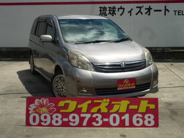 沖縄の中古車 トヨタ アイシス 車両価格 19万円 リ済別 2006(平成18)年 10.4万km シルバー