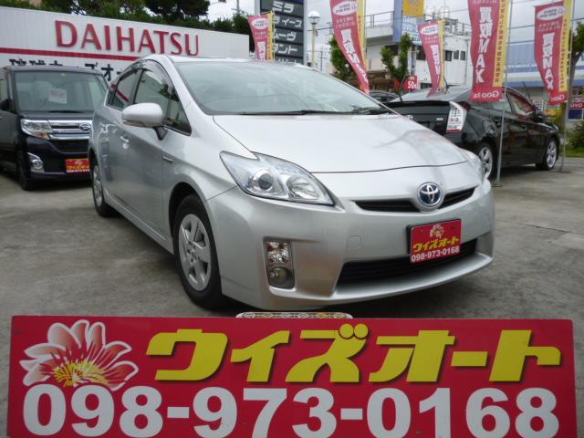 沖縄の中古車 トヨタ プリウス 車両価格 89万円 リ済込 平成23年 10.0万km グレー