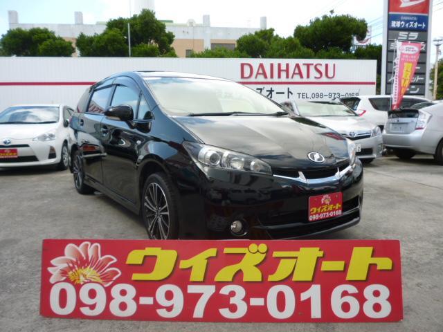 沖縄の中古車 トヨタ ウィッシュ 車両価格 92万円 リ済込 平成22年 6.8万km ブラック