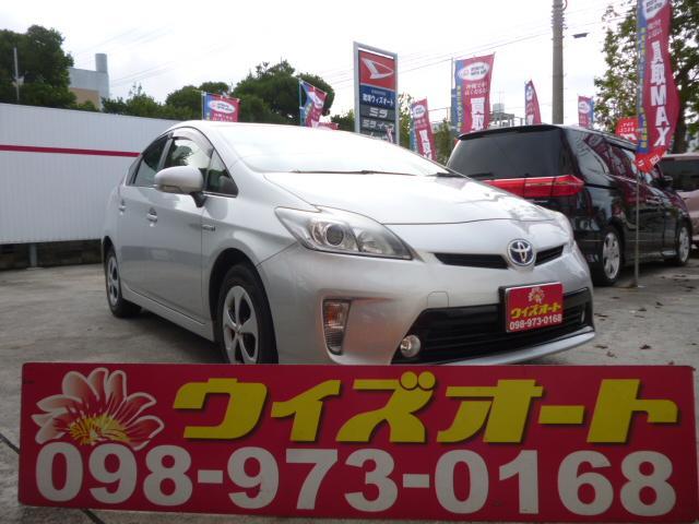 沖縄の中古車 トヨタ プリウス 車両価格 84万円 リ済込 平成24後 11.5万km シルバー