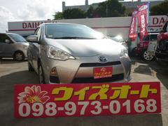 沖縄の中古車 トヨタ アクア 車両価格 72万円 リ済込 平成25年 9.0万K シルバー