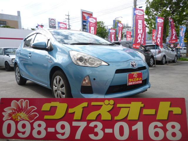 沖縄の中古車 トヨタ アクア 車両価格 84万円 リ済込 平成25年 5.2万km クールソーダメタリック