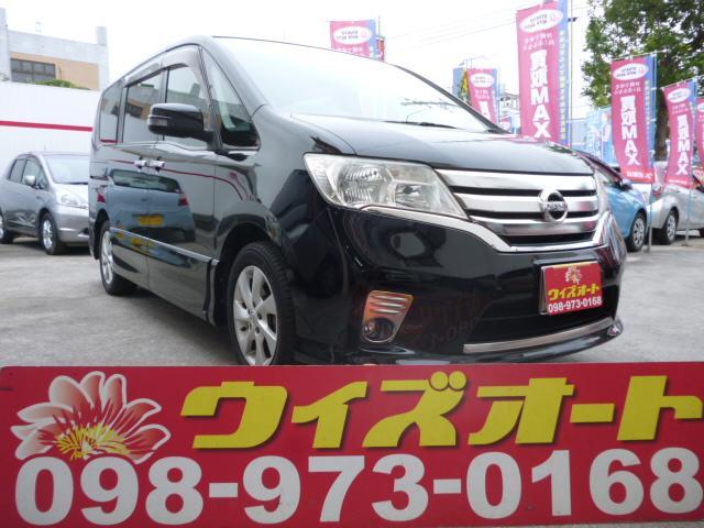 沖縄の中古車 日産 セレナ 車両価格 79万円 リ済込 平成23年 10.0万km ブラック