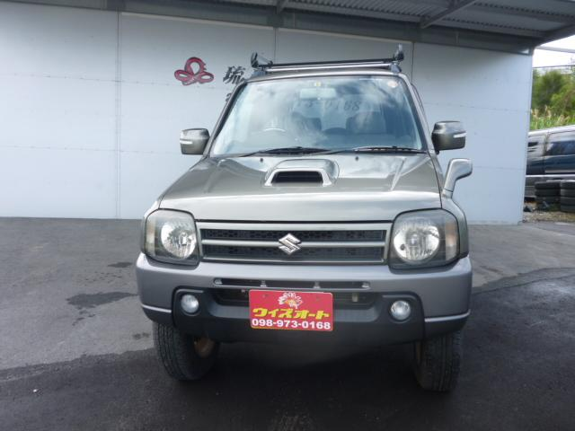 沖縄の中古車 スズキ ジムニー 車両価格 72万円 リ済込 平成20年 11.5万km グリーン
