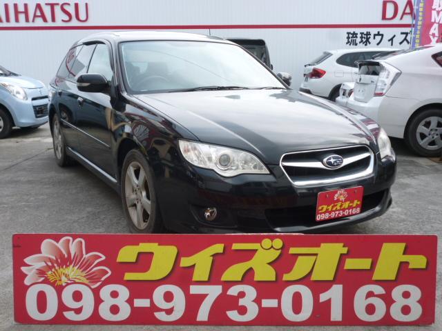 沖縄の中古車 スバル レガシィツーリングワゴン 車両価格 29万円 リ済込 2008(平成20)年 9.6万km ブラック