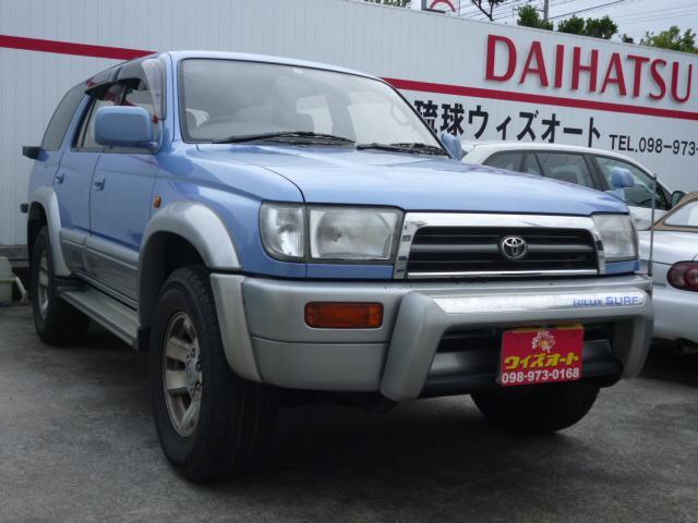 沖縄の中古車 トヨタ ハイラックスサーフ 車両価格 82万円 リ済込 1996(平成8)年 7.5万km ブルーII