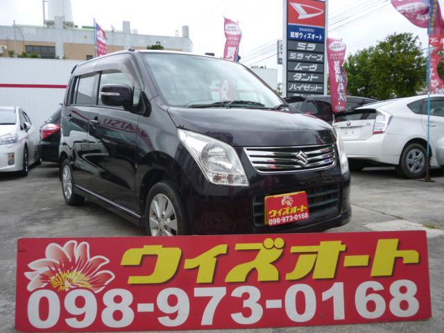 沖縄の中古車 スズキ ワゴンR 車両価格 34万円 リ済込 2012(平成24)年 8.7万km ブラック