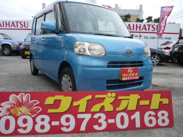 沖縄の中古車 ダイハツ タント 車両価格 25万円 リ済込 2010(平成22)年 10.7万km ブルー