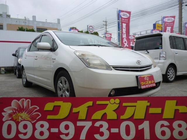 沖縄の中古車 トヨタ プリウス 車両価格 35万円 リ済込 2008(平成20)年 15.7万km パールホワイト