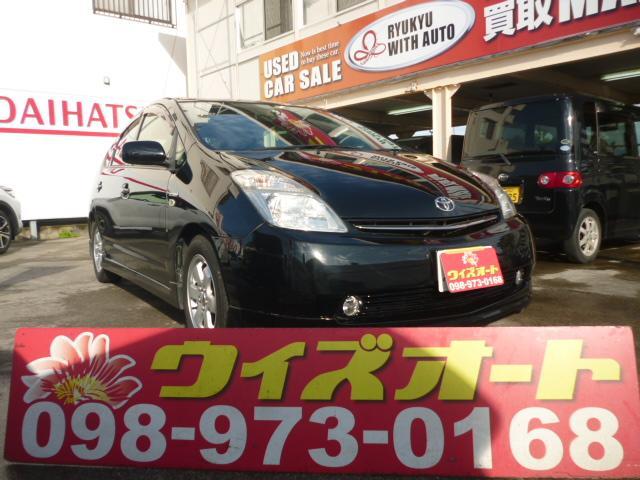 沖縄の中古車 トヨタ プリウス 車両価格 39万円 リ済込 2008(平成20)年 10.8万km ブラック