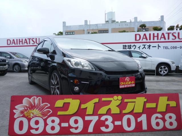 沖縄の中古車 トヨタ プリウス 車両価格 98万円 リ済込 2012(平成24)年 13.2万km ブラック