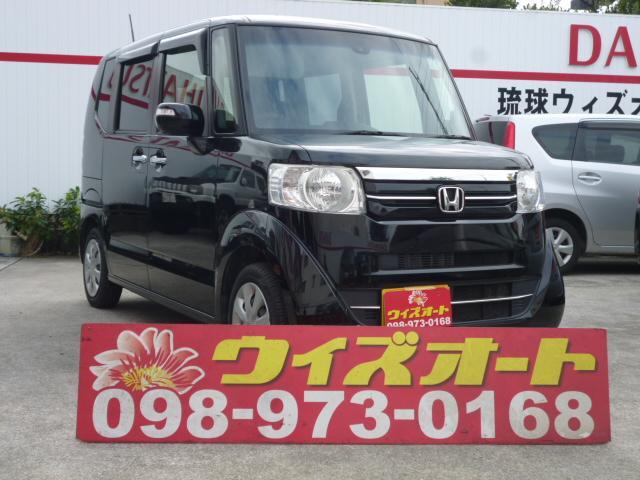 沖縄の中古車 ホンダ N-BOX 車両価格 79万円 リ済込 2015(平成27)年 5.0万km ブラック