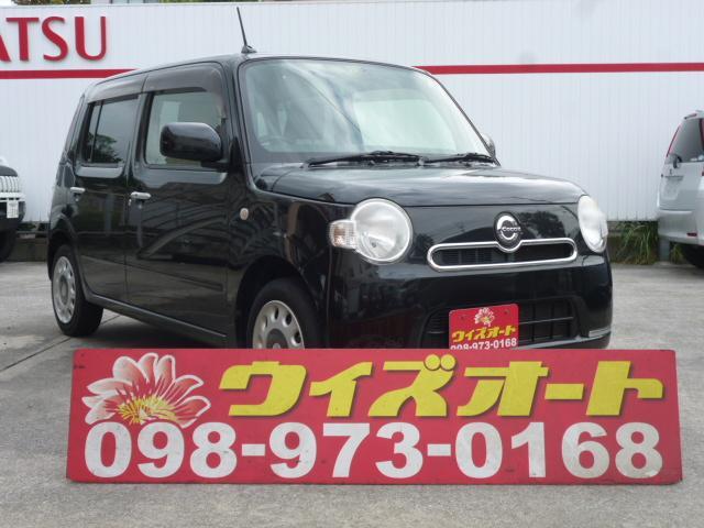 沖縄の中古車 ダイハツ ミラココア 車両価格 34万円 リ済込 2013(平成25)年 13.4万km ブラック